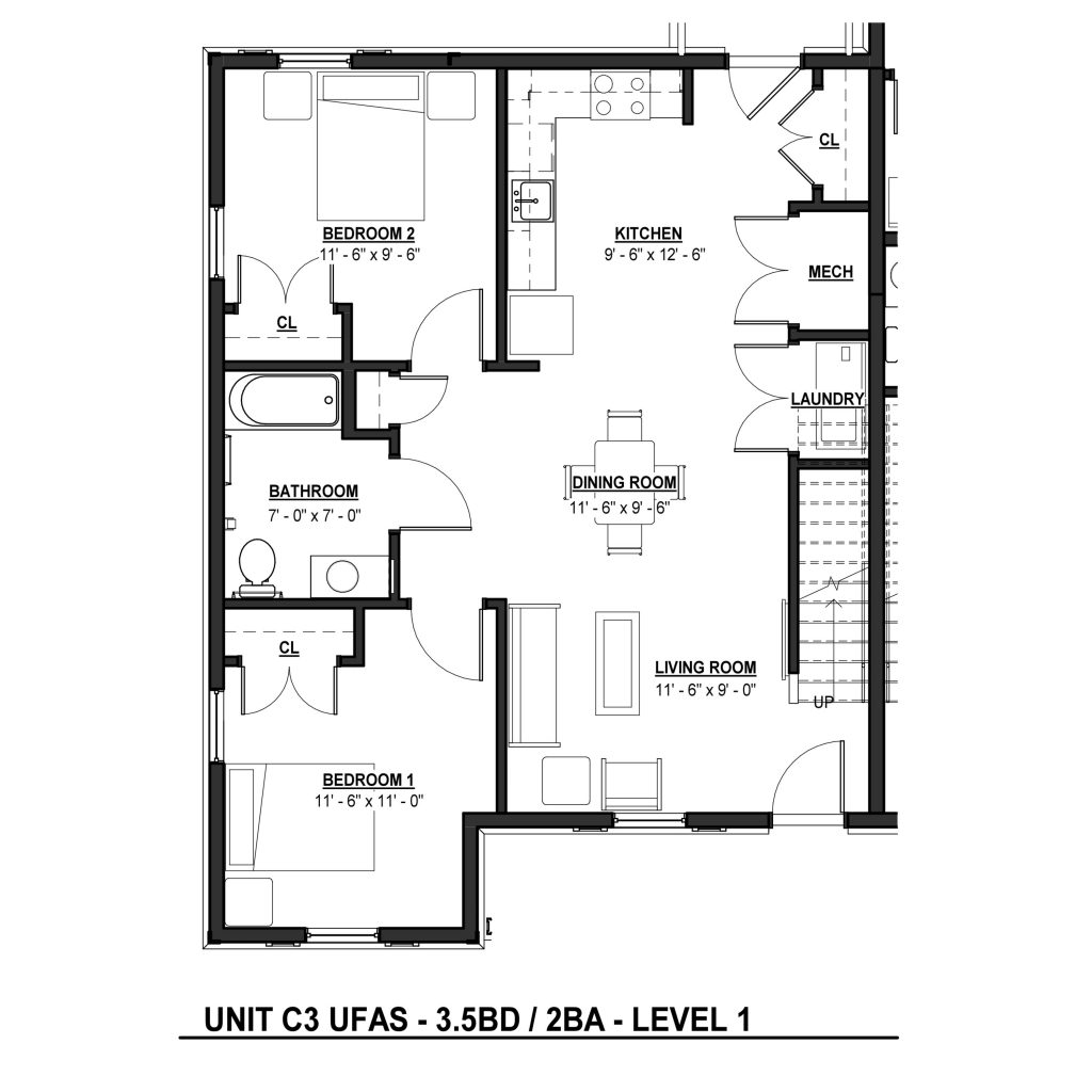 C3 3BR | 2.5BA 1399 Sq Ft Level 1