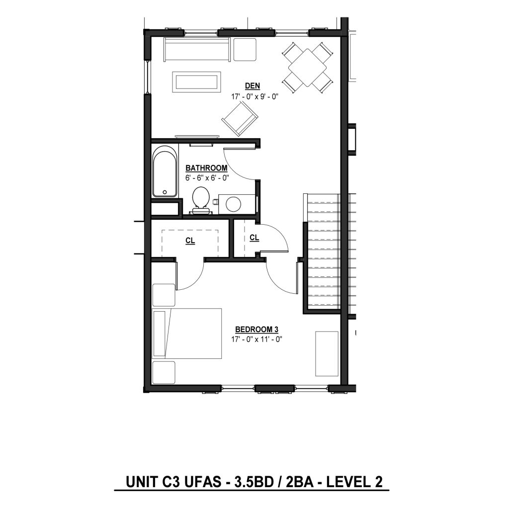 C3 3BR | 2.5BA 1399 Sq Ft Level 2
